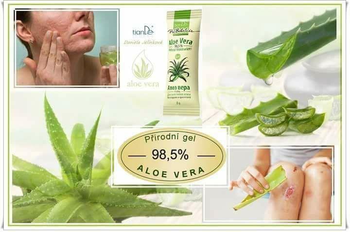 Aloe vera gel TianDe, kosmetika TianDe